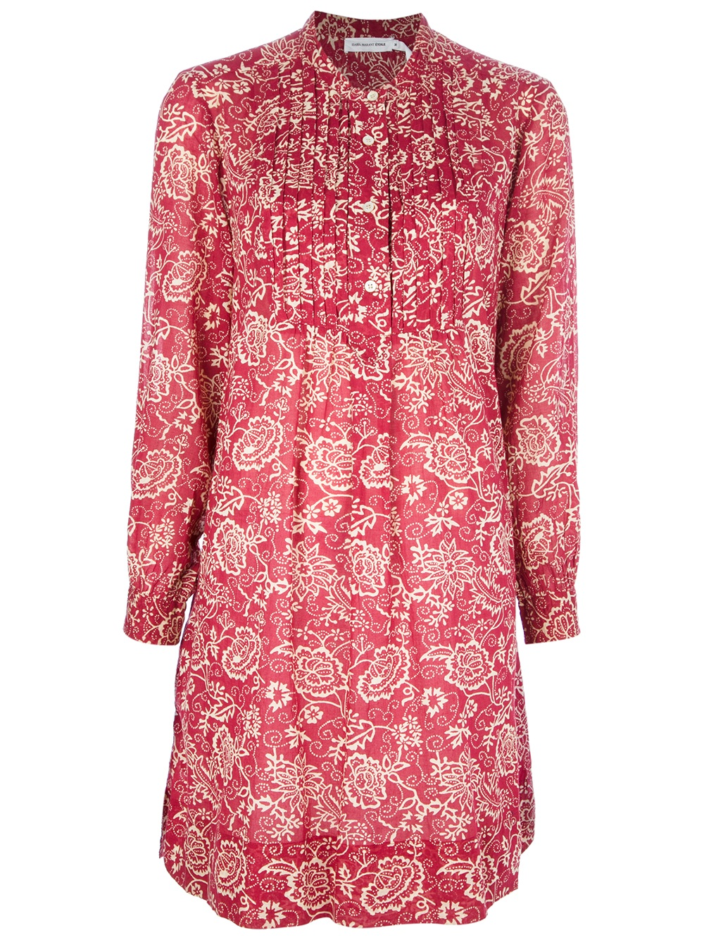 Etoile Isabel Marant Floral Print Shirt Dress In Red
