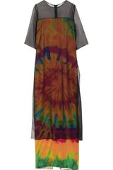 Lulu & Co Natascha Stolle Printed Silk-Blend and Chiffon Dress - Lyst
