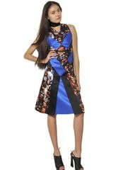 Proenza Schouler Silk Patchwork Dress - Lyst
