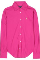 Ralph Lauren Carissa ButtonDown Shirt in Pink (denim) - Lyst