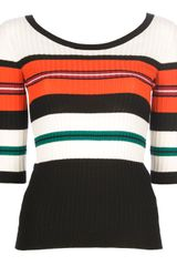 Sonia Rykiel Striped Top - Lyst