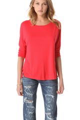 Three Dots Dropped Sleeve Top - Lyst