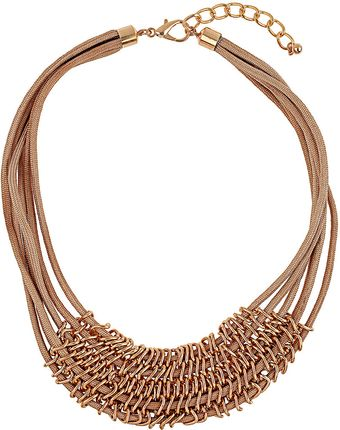 Topshop Ring Link Rope Necklace - Lyst