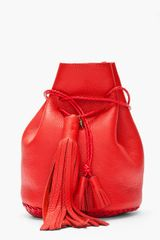 Wendy Nichol Red Tassled Leather Bullet Bag