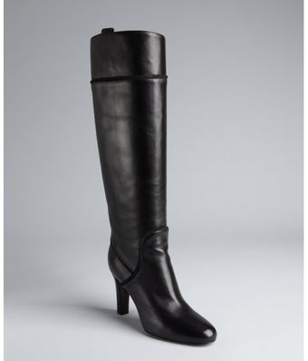 Yves Saint Laurent Leather Stacked Heel Boots - Lyst