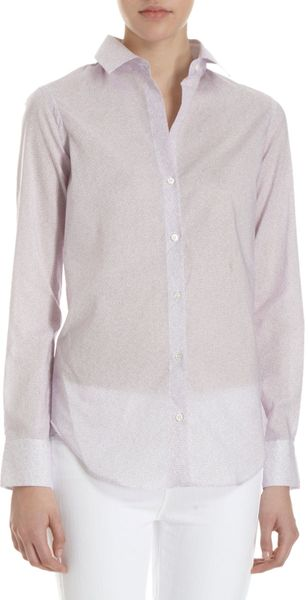 Barneys New York Honeycomb Shirt - Lyst