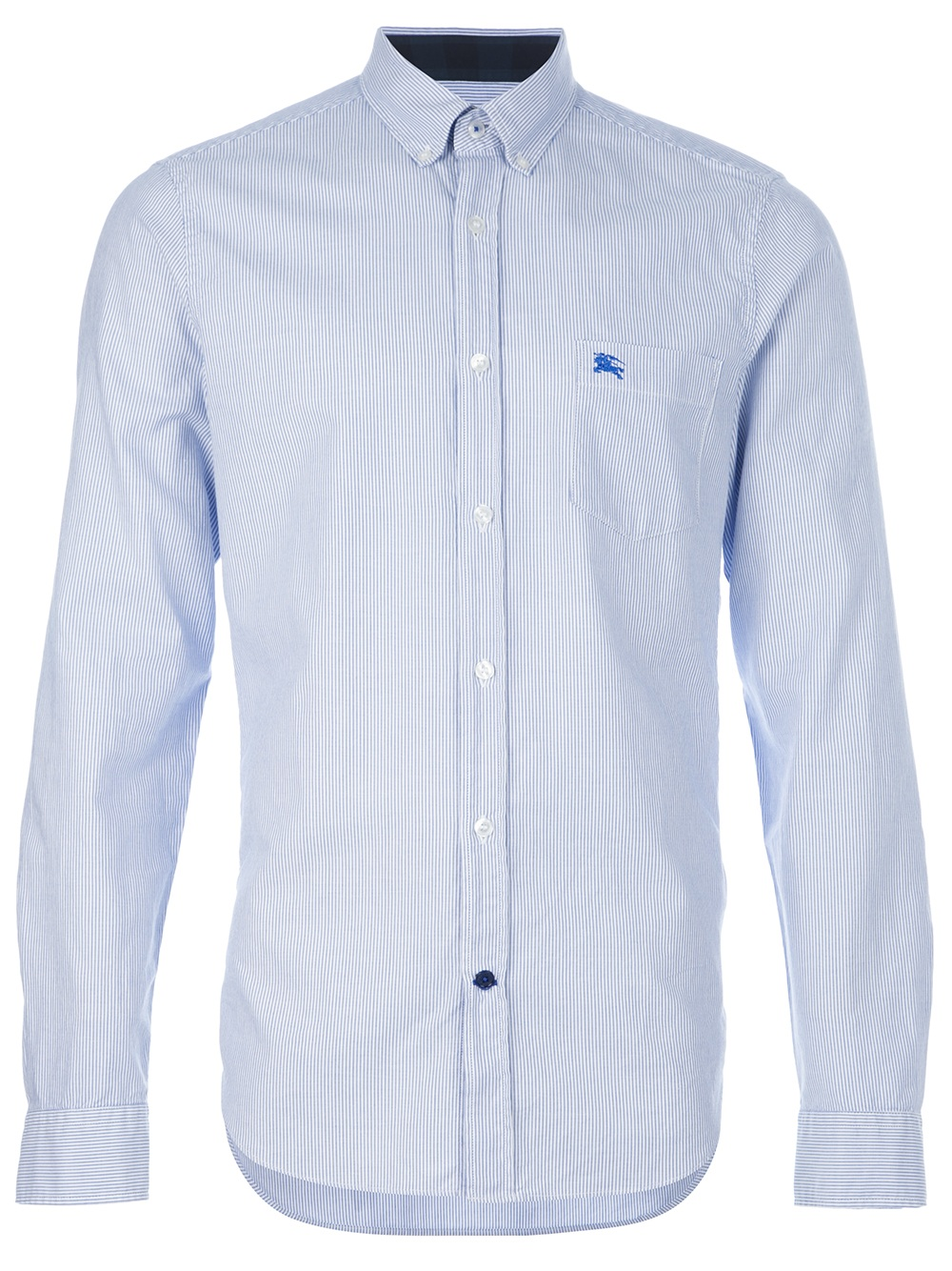 Burberry Brit Button Down Collar Shirt In Blue For Men Lyst