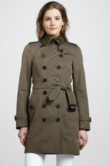 Burberry Beaded Cotton Trench Coat - Lyst