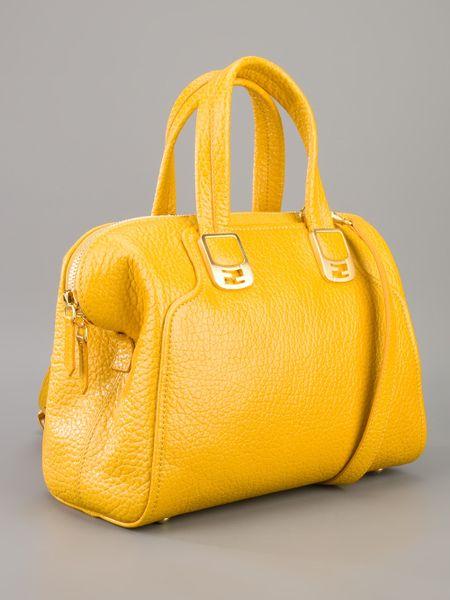 Fendi Chameleon Duffle Bag In Yellow Lyst