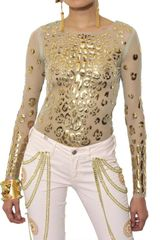 Manish Arora Resin Appliqué Techno Net Top - Lyst