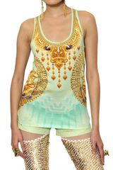 Manish Arora Printed Cotton Jersey Tank Top - Lyst