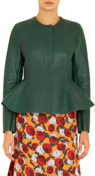 Marni Long Sleeve peplum Jacket - Lyst
