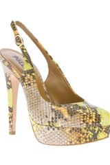 Studio Pollini Sling Back Heeled Pump - Lyst