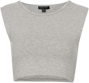 Topshop Basic Sleeveless Crop Top - Lyst