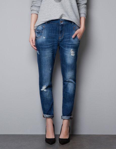 Original Zara Baggy Corduroy Trousers In Black  Lyst