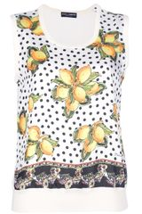 Dolce & Gabbana Printed Lemon Top - Lyst
