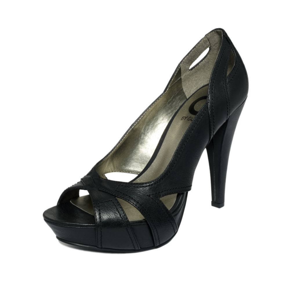 Guess Honora2 Peep Toe Pumps In Black Save 3% Lyst 520x650 · G ...