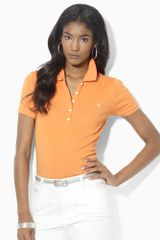 Lauren by Ralph Lauren Shortsleeved Cotton Polo - Lyst