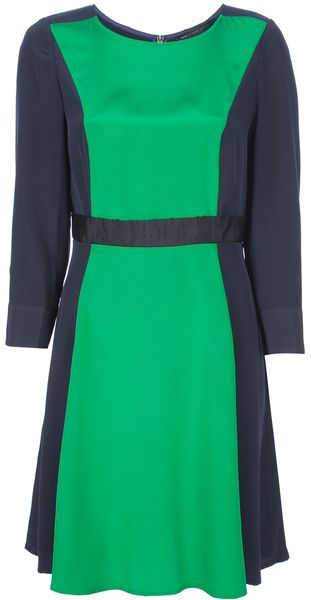 Marc By Marc Jacobs Colour Block Silk Dress - Lyst