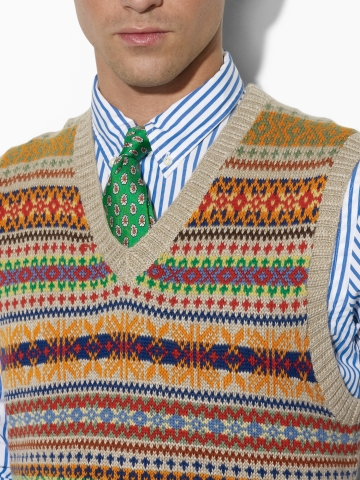 5a7a9a54a002 Polo Ralph Lauren Fair Isle Sweater Vest in Natural for Men - Lyst