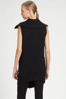 Donna Karan New York Boiled Cashmere Vest - Lyst