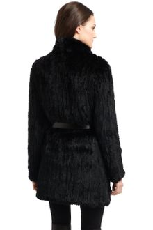 Elizabeth And James Knitted Fur Coat - Lyst