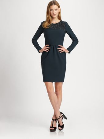 La Via 18 Jersey Tweed Dress - Lyst