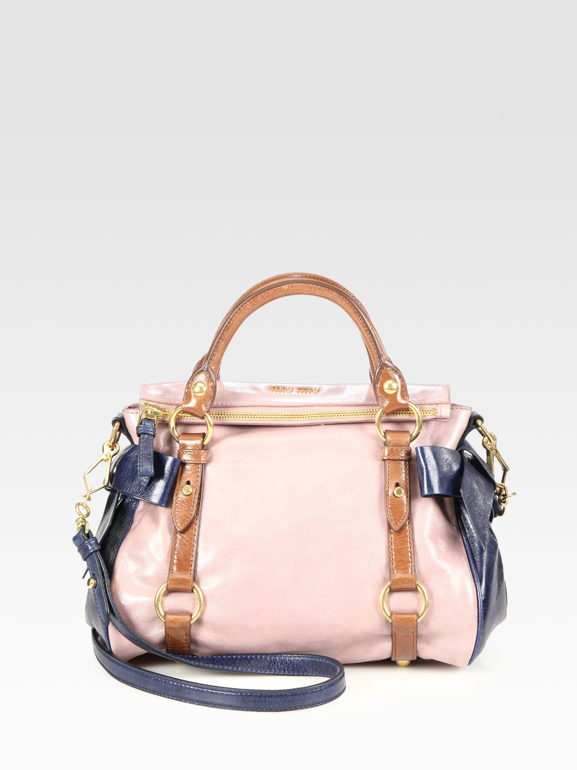 Lyst miu vitello lux small bow satchel in pink jpg 2000x2667 Lux bow miu  vitello bags e32c0f2d13
