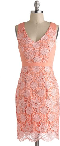 ModCloth Peaches and Gleam Dress - Lyst