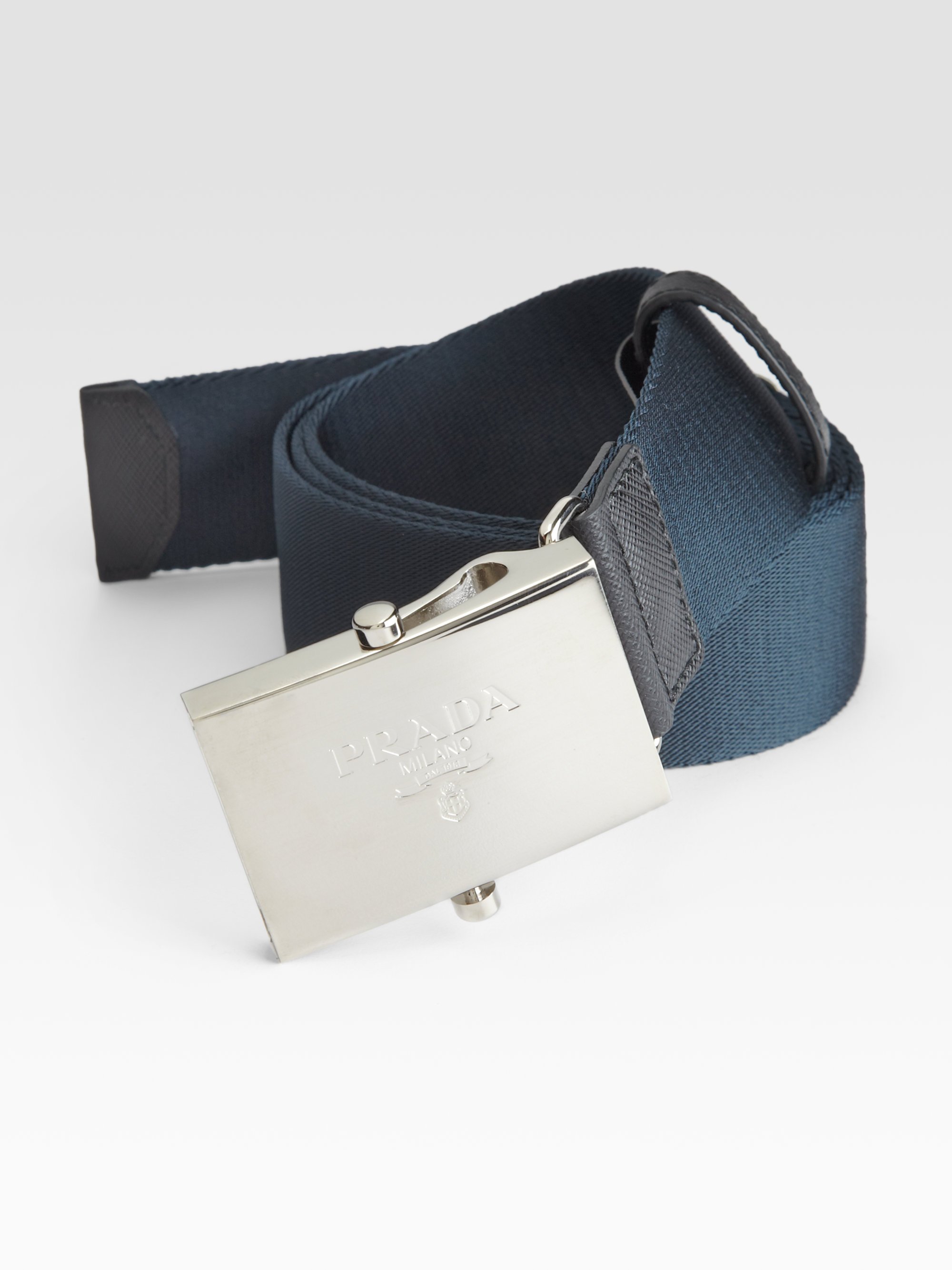 Prada Nylon Belt in Blue for Men | Lyst