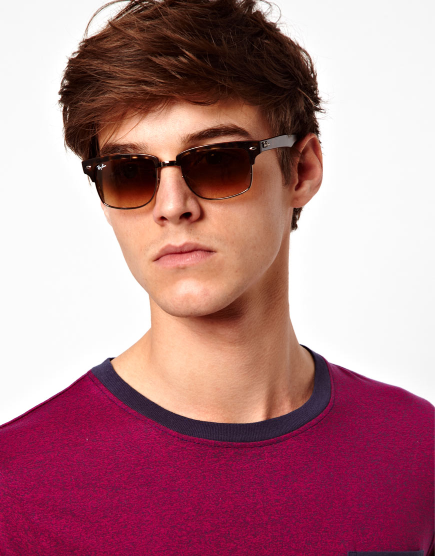 ray ban mens clubmaster sunglasses  gallery. men's ray ban clubmaster