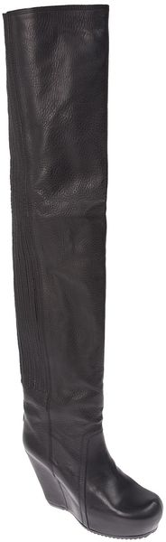 Rick Owens Thigh High Boot - Lyst