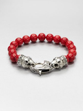 Stephen Webster Coral Beaded Bracelet - Lyst