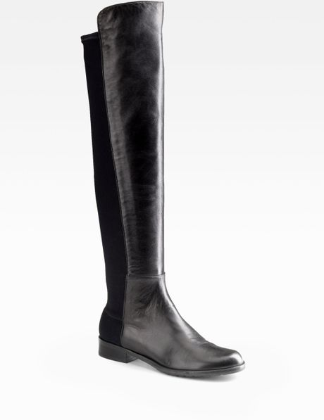 stuart weitzman 5050 leather the knee boots in black