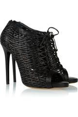 Tabitha Simmons Faiza Woven Leather Ankle Boots