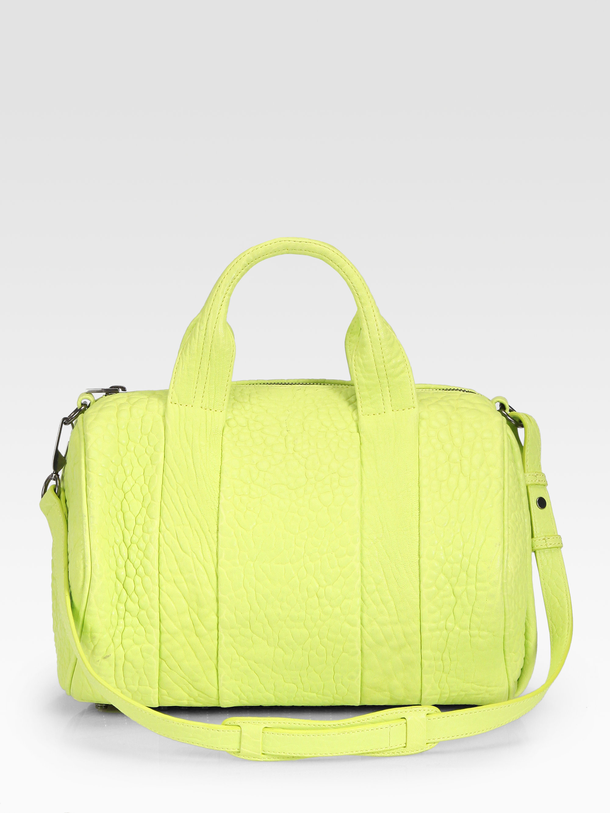 alexander wang rocco duffle bag in yellow green lyst. Black Bedroom Furniture Sets. Home Design Ideas