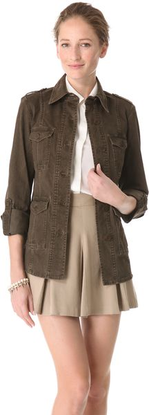 Alice + Olivia Farlie Military Shirt Jacket - Lyst