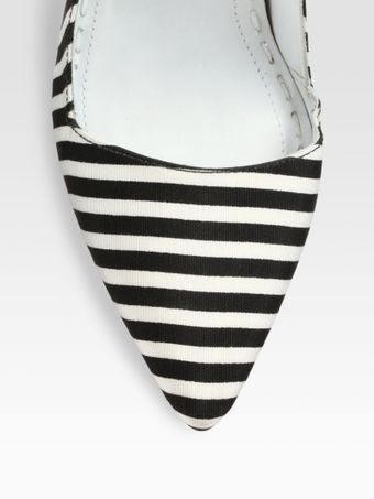 Alice + Olivia Striped Canvas Pumps - Lyst