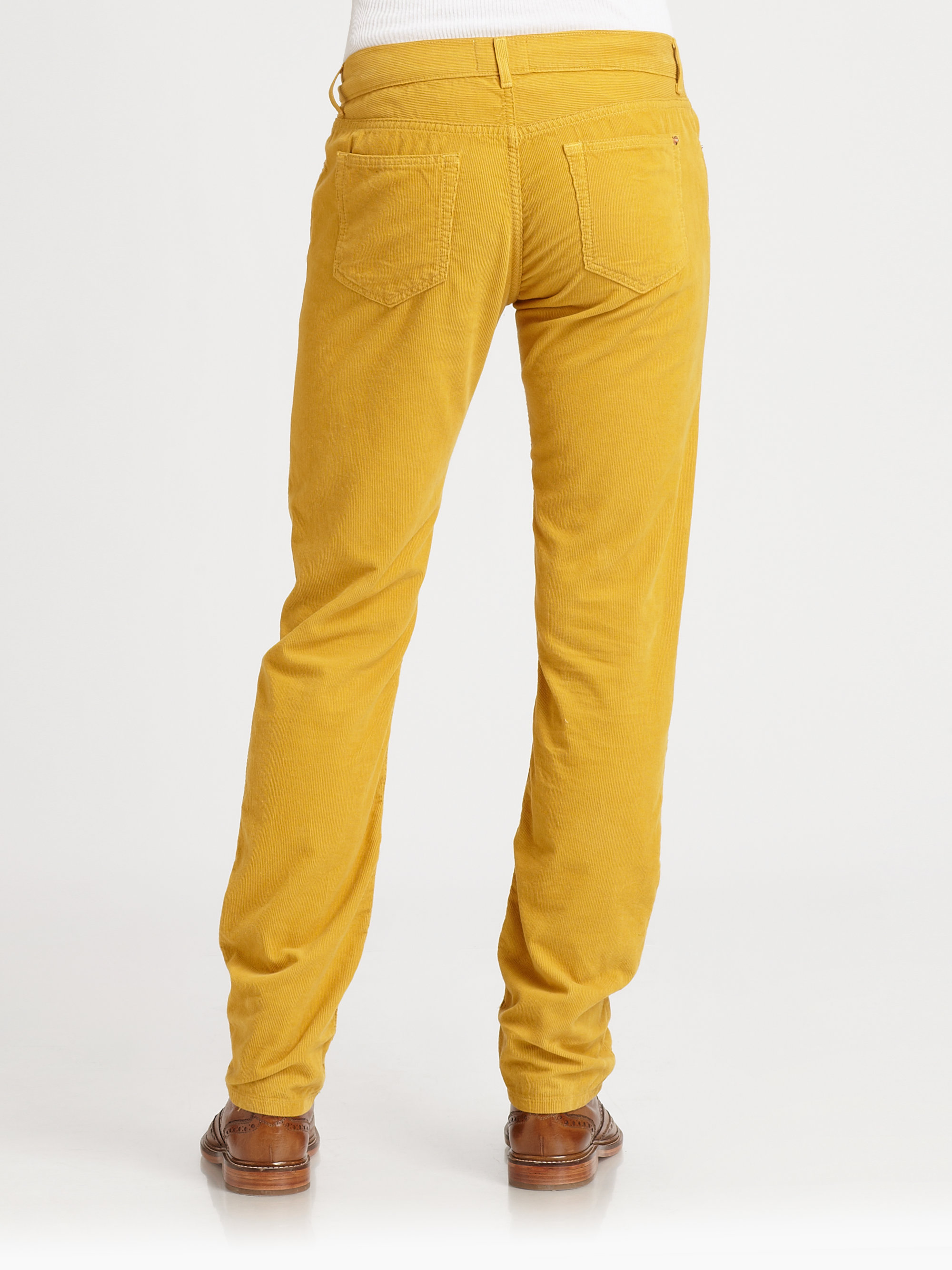differently discount shop durable in use Band of Outsiders Corduroy Pants in Yellow for Men - Lyst