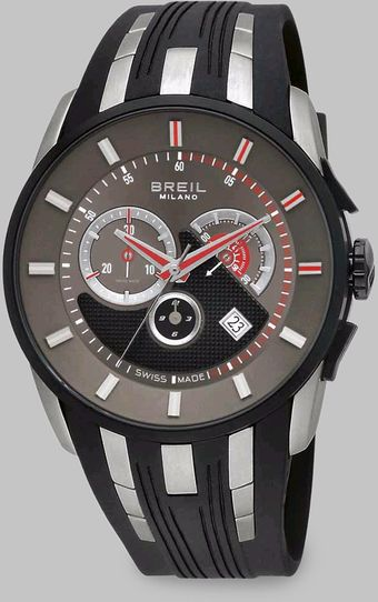 Breil Stainless Steel Chronograph Strap Watch - Lyst