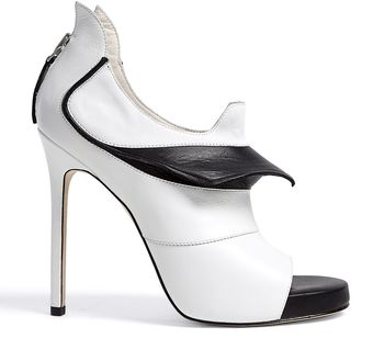 Camilla Skovgaard Monochrome Prey Open Toe Stiletto Shoe Boots - Lyst
