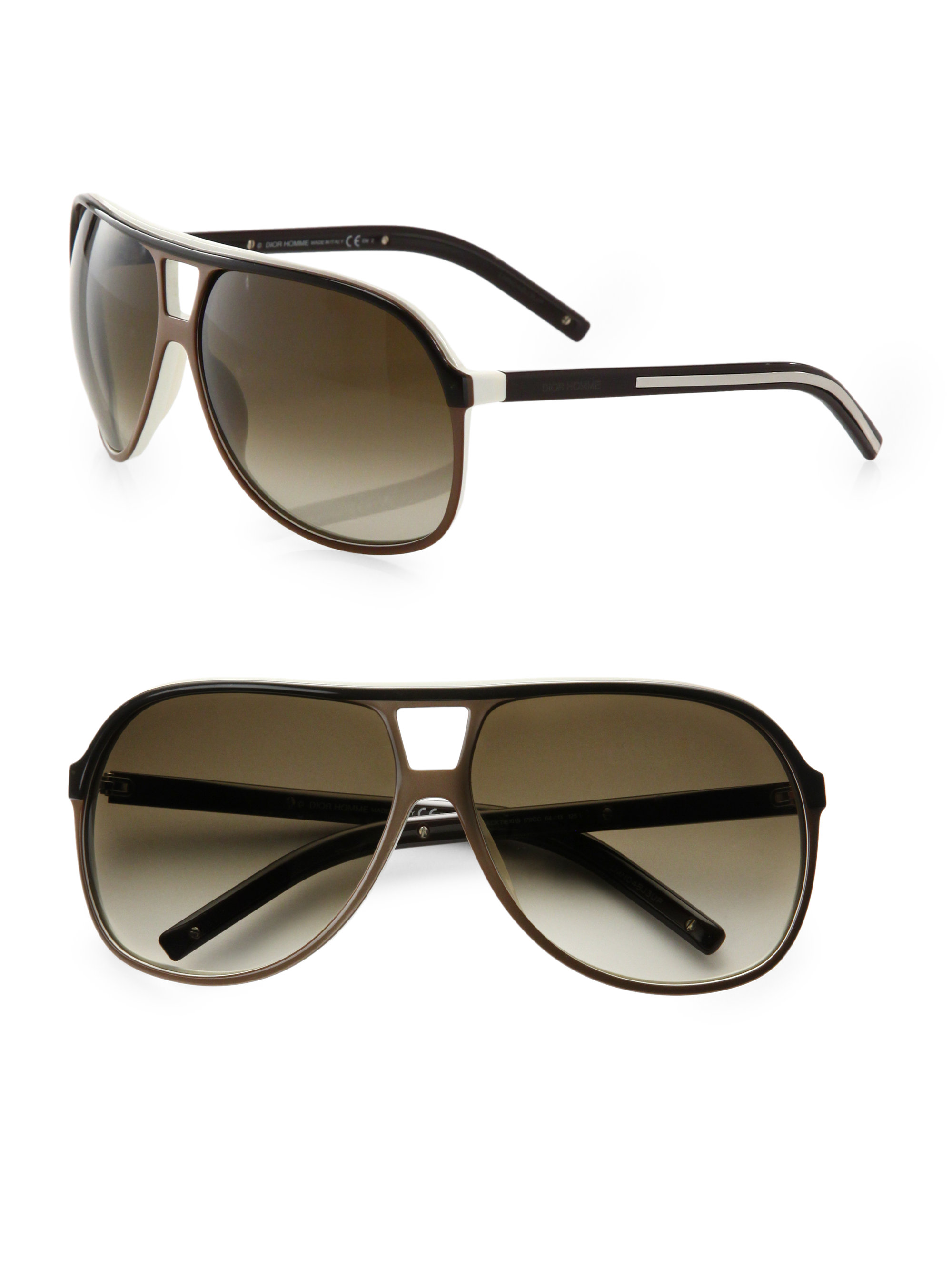 Oakley Half Jacket 2 0 Xl >> Dior homme Acetate Aviator Shield Sunglasses in Black for ...
