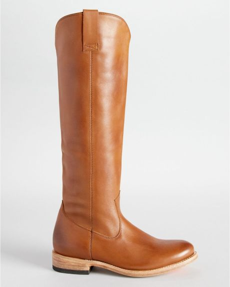 dv by dolce vita dv flat boots lujan in brown cognac