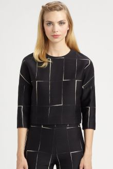 Giambattista Valli Windowpane Jacquard Top - Lyst