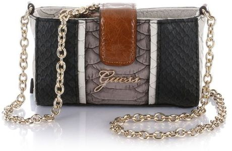Guess Tisbury Mini Crossbody in Black (black multi) - Lyst