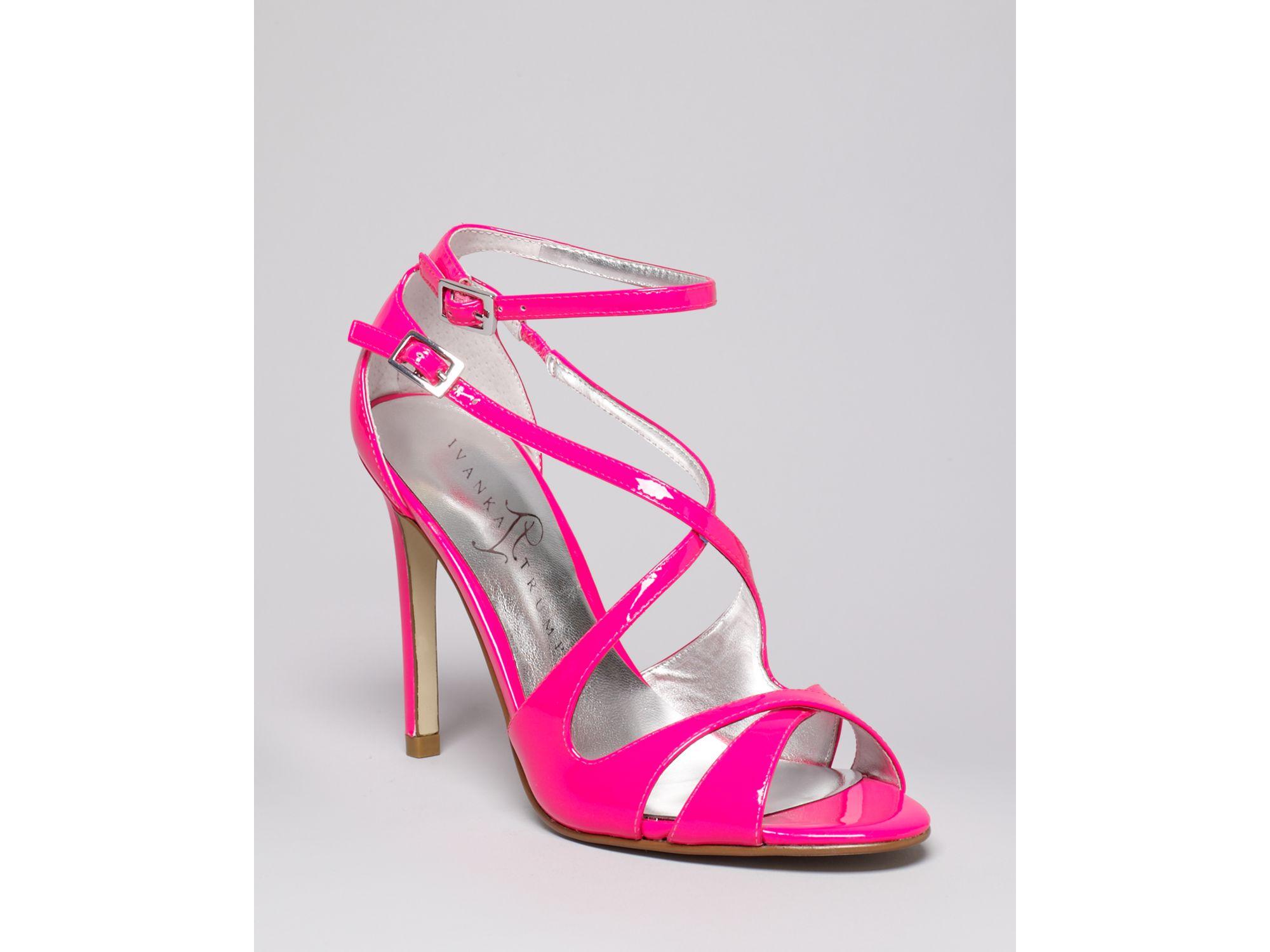 Ivanka trump Helice High Heel Strappy Sandals in Pink | Lyst