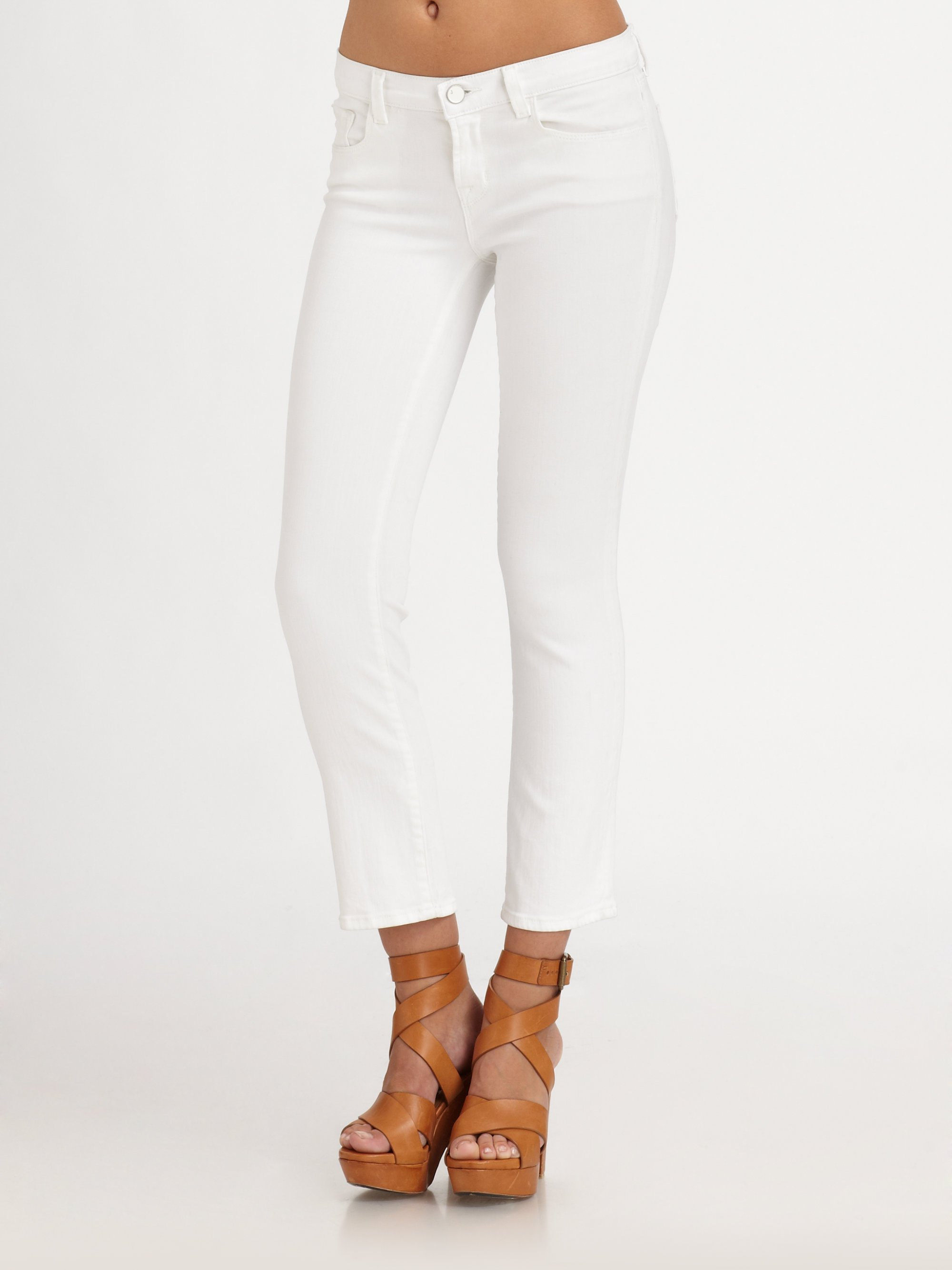 cropped denim jeans - White J Brand Buy Cheap With Credit Card View Online Free Shipping Top Quality Clearance Newest FpYtnjGJ