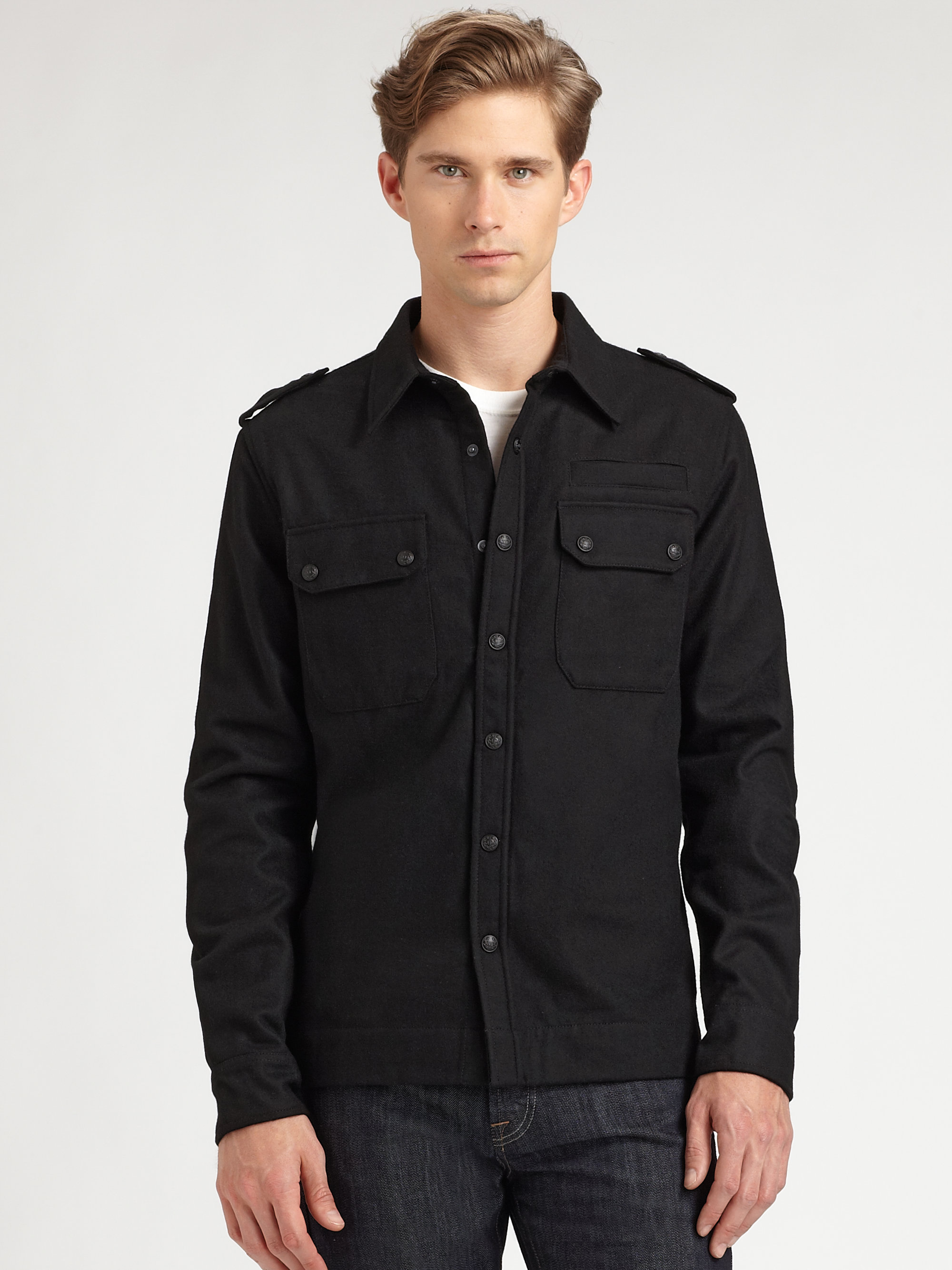 Black Shirt Jacket | Outdoor Jacket