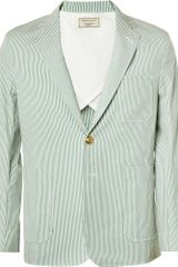 Maison Kitsuné Striped Cotton Suit Jacket - Lyst