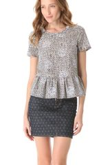 Marc By Marc Jacobs Jamie Dot Peplum Top - Lyst
